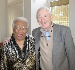 Lucille Clifton and Frank McCourt during his Irish Evening Visit to HoCoPoLitSo in 2009.