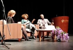 HoCoPoLitSo's Tara Hart in conversation with Rita Dove and Joshua Coyne.