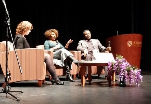 HoCoPoLitSo's Tara Hart in conversation with Rita Dove and Joshua Coyne.