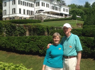 Jean Sonntag - with her husband at Edith Whartons home, The Mount, in the Berkshires.